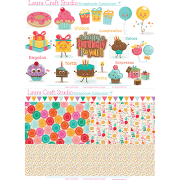 Scrapbook Collection Set x 2 - Cumpleanos